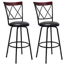 Modern Bistro Chairs Swivel Bar Stools Pu Leather Steel Counter Height Modern Bistro