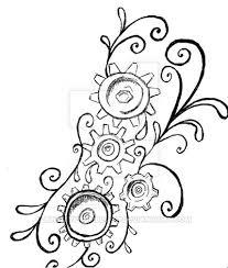 steampunk gears tattoo by lulabyfromblood on deviantart