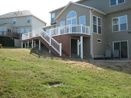 basement walkout deck with walkout basement traditional deck cleveland by