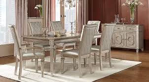 silver dining room belle terra chagne 5 pc dining room dining room sets colors
