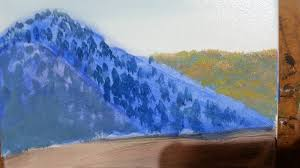 how to paint mountains landscapes using a great shortcut oil