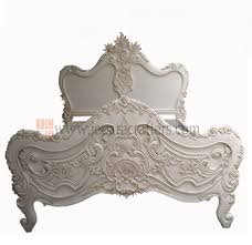 hard carved baroque furniture beds white painted french provincial