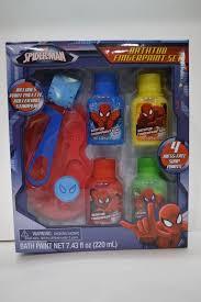 Marvel Bathroom Set Marvel Spiderman Bathtub Fingerpaint Set 4 Paint Colors Palette