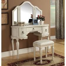 White Bedroom Vanities Furniture Classy Mirrored Vanity Table For Home Design Gallery