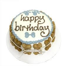 mini organic dog birthday cake blue shelf stable priceco pets