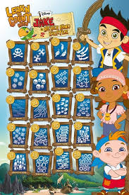 jake neverland pirates learn count poster sold