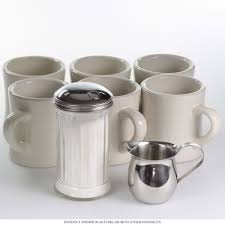 diner mug set of 6 with creamer and sugar dispenser kitchen