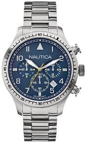 steel bracelet watches images Men 39 s nautica chronograph steel bracelet watch n18713g gif