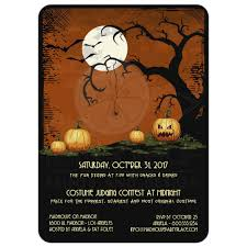 kid halloween party invitation cute owl and pumpkins halloween party invitation