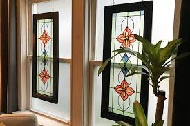 faux stained glass kitchen cabinets faux stained glass window cottage living