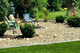 River Rock Garden Bed Landscaping Ideas With Mulch And Rocks Fin Soundlab Club