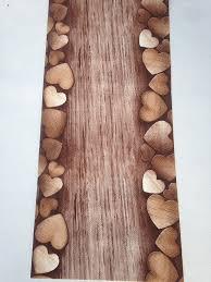 tappeti a metraggio tappeto cucina a metraggio pvc largo 55 marrone cuori legno