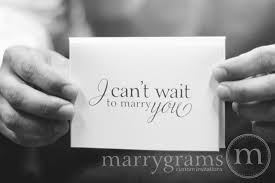 To My Bride On Our Wedding Day Card Can U0027t Wait To Marry You Card For Wedding Day Mix Style