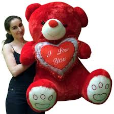 big valentines day teddy bears valentines day teddy soft with bigfoot paws holds i