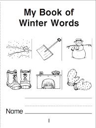 my book of winter words a mini book parents scholastic com