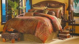 Earth Tone Comforter Sets Bedroom Belize Tropical Comforter Set In Twin Queen And King With