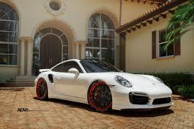 white porsche 2016 white porsche turbo s adv7 track spec cs concave wheels adv 1