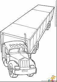 superb dump truck coloring pages printable with semi truck