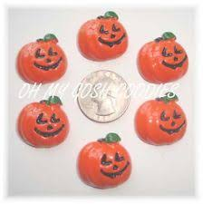 hair bow center 6pc giggle pumpkin flat back flatback resins 4 hairbow