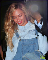 beyonce wears a denim for date night with jay z photo