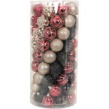 time lodge shatterproof ornaments set of 101