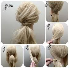 tutorial rambut cara mengikat rambut panjang mudah dan simple step tutorial gambar