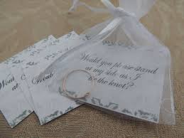 gifts to ask bridesmaids to be in wedding tie the knot ring knot ring bridal party inviation gift