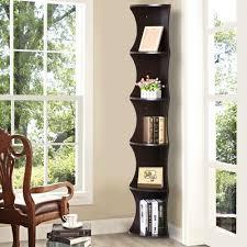 coaster corner bookcase amazon com yaheetech 5 tier brown round wall corner shelf skinny