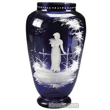 Antique Cobalt Blue Vases Antique Mary Gregory Glass Price Guide Antiques U0026 Collectibles