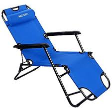 Reclining Folding Chair With Footrest Amazon Com Ancheer Outdoor Lounge Chaise Beach Recliner Patio