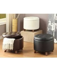 Faux Leather Ottoman Great Deals On Leather Ottoman With Storage Space Black Size