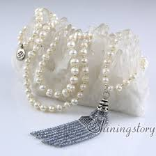 pearl beads necklace images Buddhist prayer beads necklace 108 chanting mantra meditation jpg