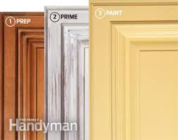 How To Spray Paint Doors - how to spray paint kitchen cabinets family handyman