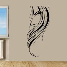 Wall Art Stickers by Beauty Salon Decor Woman Face Sticker Vinyl Wall Art Beauty