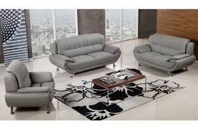 Modern Gray Leather Sofa by Leather Sofas Melrose Discount Furniture Store