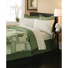 Complete Bedroom Set With Mattress Essential Home 8 Piece Complete Bed Set Belize Olive Green