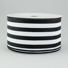black and white striped ribbon 2 5 vertical stripe satin ribbon black white 10 yards