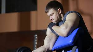 Bench Press For Biceps - dumbbell bench press with one hand on the biceps hands training