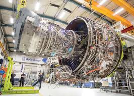 rolls royce factory rolls preps a350 1000 u0027s big trent xwb 97 for tests on a380 ftb
