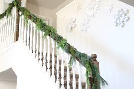 How To Hang Garland On Your Banister Summer Adams