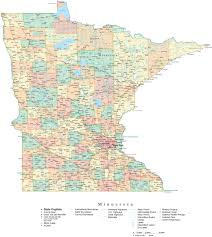 Dry Counties In Usa Map by State Map Of Minnesota In Adobe Illustrator Vector Format U2013 Map
