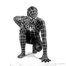 2017 halloween black spider man costumes amazing spider man
