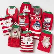 fuzzy christmas socks 4 pair lot 2017 winter women christmas socks cotton 3d animal