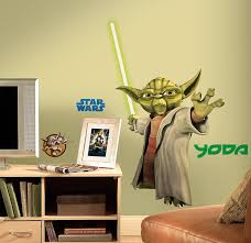 amazon com roommates rmk1402gm star wars the clone wars yoda amazon com roommates rmk1402gm star wars the clone wars yoda glow in the dark giant wall decal home improvement