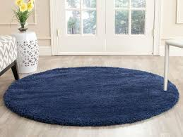 5ft Round Rug by Navy Blue Shag Rug Milan Collection Safavieh Com