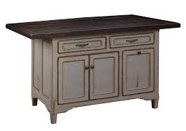 brown maple kitchen island with rough sawn top