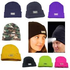knit hat with led lights 5 led lights beanies hat winter hands warm angling hunting cing