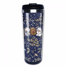 travel coffee mugs images We bare bears travel coffee mug 14 oz tea cup insulated tumbler in jpg