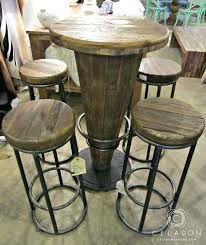 Unfinished Bistro Table Bar Stool Morella Wood Pub Table 599 1225 51003416 I Throughout