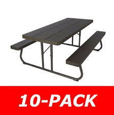 Convertible Picnic Table Bench Lifetime Brown Plastic Folding Picnic Table 10 Pack On Sale Ships Free